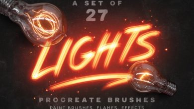 Photo of LIGHTS PROCREATE BRUSHES FREE DOWNLOAD