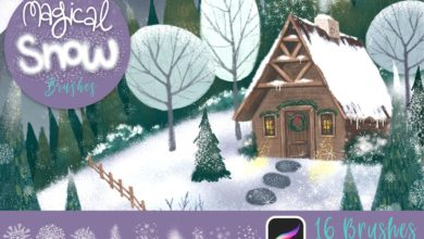 Photo of MAGICAL SNOW PROCREATE BRUSHES FREE DOWNLOAD