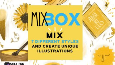 Photo of MIX BOX FOR PROCREATE FREE DOWNLOAD