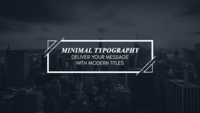 Photo of Minimal Modern Typography After Effects Templates