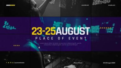 Music Event Promo Slides After Effects Templates Free Download Picgiraffe.com