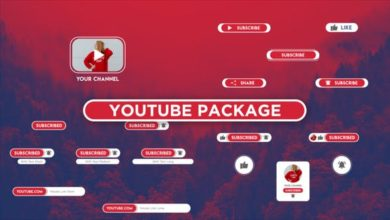 Opener Youtube Package Button Subscribe After Effects Templates Free Download Picgiraffe.com