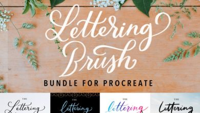 Photo of PROCREATE BRUSHES LETTERING BUNDLE FREE DOWNLOAD