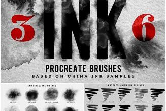 Photo of PROCREATE INK BRUSHES SET FREE DOWNLOAD