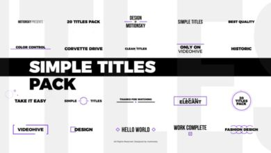 Photo of Simple Titles Pack After Effects Templates