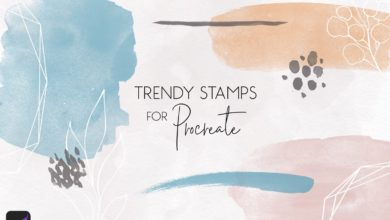 Photo of TRENDY STAMP FOR PROCREATE FREE DOWNLOAD