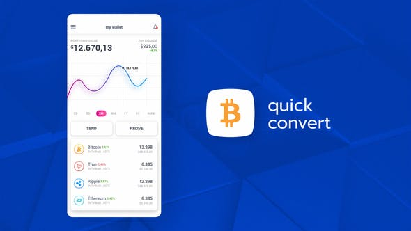 Cryptocurrency App Promo After Effects Templates Free Download Picgiraffe.com