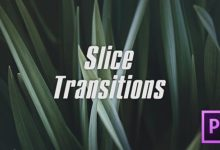Photo of Slice Transitions Premiere Pro Templates