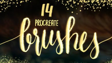 14 procreate brushes light and effect lettering free download picgiraffe.com