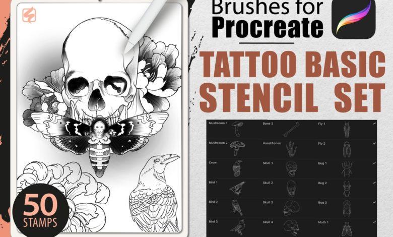 procreate brushes tattoo basic stencil set free download picgiraffe.com