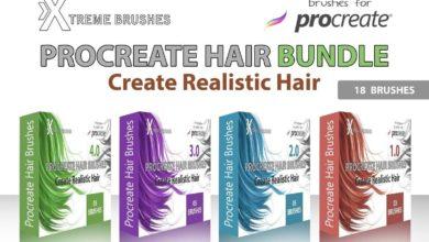 procreate hair brushes bundle1 1 free download picgiraffe.com