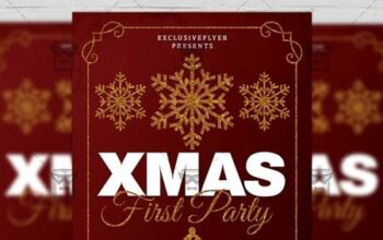 first christmas party flyer – seasonal a5 template 21142 free download picgiraffe.com