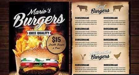 food burger menu flyer 2801410 free download picgiraffe.com