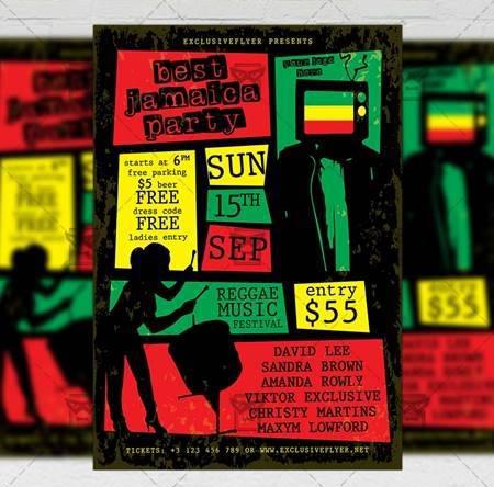 jamaica party flyer – club a5 template 20132 free download picgiraffe.com