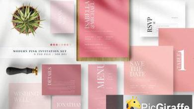 modern pink invitation set ae pgts3hc free download picgiraffe.com