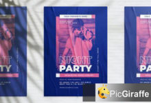 night party poster c956txt free download picgiraffe.com