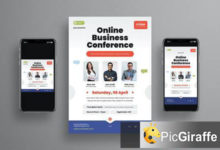 online business conference flyer set ed762v4 free download picgiraffe.com