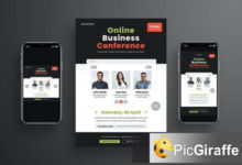 online business conference flyer set umt5ta5 free download picgiraffe.com