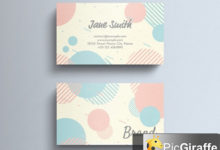 pastel business card layout with circle decorations 274315599 free download picgiraffe.com