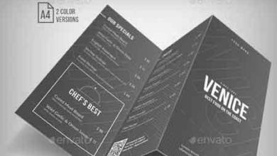 simple elegant trifold menu – 2 color version 20270811 free download picgiraffe.com