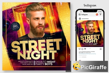 street night party flyer 4444983 free download picgiraffe.com
