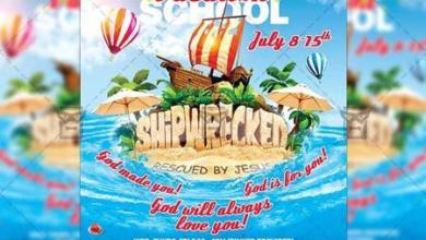 vacation bible school – church a5 flyer template 19853 free download picgiraffe.com